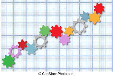 Technologie-Gang-Tech-Geschäftsgraph.