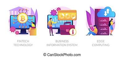 technologie, infrastruktur, integration, illustrations., vektor, begriff, abstrakt