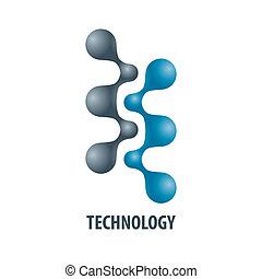 Technologielogo in Form von Atom 5.