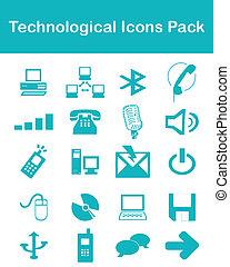 Technologische Icons Rudel