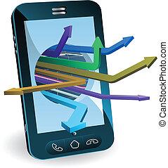 Telefon-Pfeil-Konzept