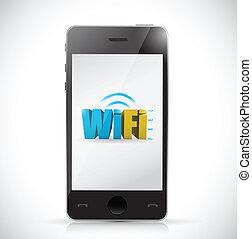 Telefonfreies Wifi-Anschluss Illustration Design.