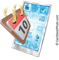 Telefonkalender-Konzept