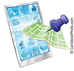 Telefonkarte App Konzept