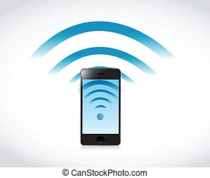 Telefonverbindung mit Wifi Illustration