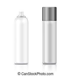 template., weißes, silber, flasche, sprühgerät
