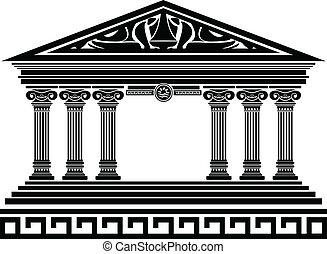 temple., fantasie, variante, fünfter