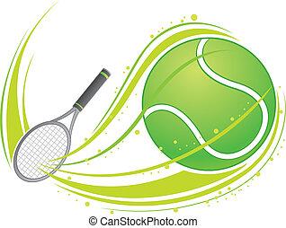 Tennis spielen.