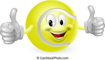 Tennisball-Maskottchen