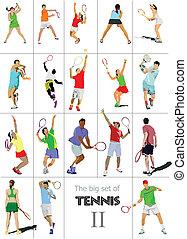 Tennisspieler. Farbvektor illu