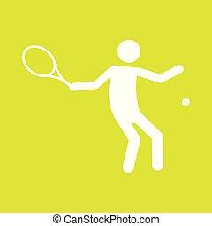 Tennissportfigurensymbol Vektorgrafik.