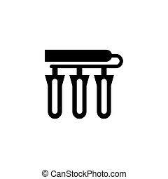 Teströhren-Vektor-Icon