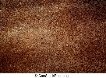 texture., glänzend, brauner, leder