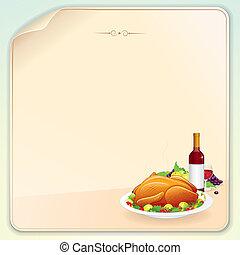Thanksgiving-Grußkarte