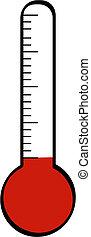 thermometer, niedrig, temperatur