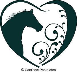 tierärztliche , herz, pferd, love.