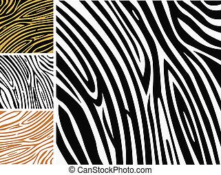 Tier Hintergrundmuster - Zebrahautabdruck
