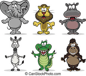 Tiere Afrikas.