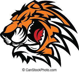 Tiger Maskottchen-Grafik.