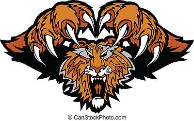 Tiger-Maskottchen prahlt Grafik-Logo