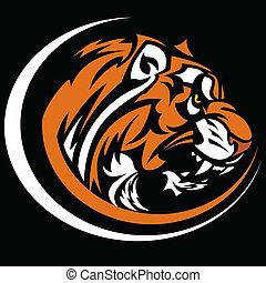 Tiger-Maskottchen-Vektorbild