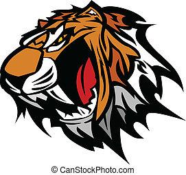 Tiger Maskottchenvektorgrafik