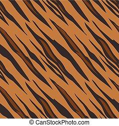 Tiger-Tiermuster nahtlose Fliesen.