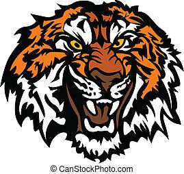 Tigerkopf, grafisches Maskottchen