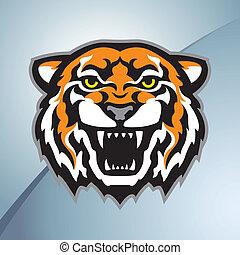 Tigerkopf-Maskottchenfarbe