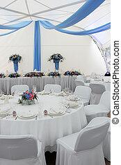 Tisch auf der Hochzeitsempfang