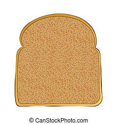 toast, scheibe