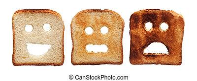 Toastbrot anders verbrannt