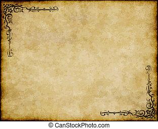 Tolles Hintergrundbild alter Pergamentpapier Textur mit ornate Design.