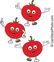 Tomate Cartoon-Figur
