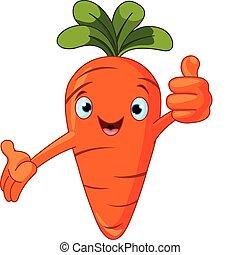 Tomato-Figur gibt Daumen hoch