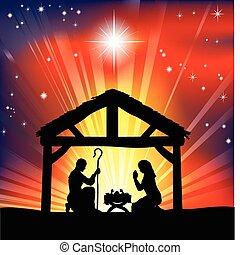 Traditionelle christliche Weihnachts-Nativitätsszene