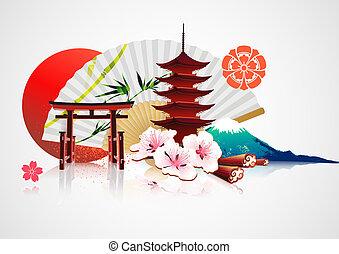 traditionelle , japanisches , hintergrund
