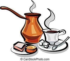 Traditioneller türkischer Kaffee.