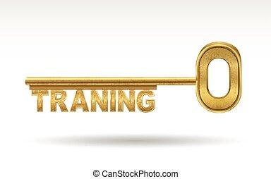 Training - goldener Schlüssel.