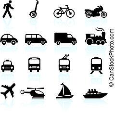 Transport-Ikonen entwerfen Elemente