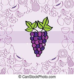 Traubenzucker Nährstoff Hintergrundmuster Zeichnung Farbe.