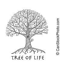 Tree mit Wurzeln für dein Design