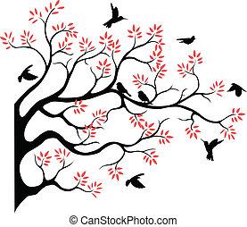 Tree Silhouette mit Vogelfutter