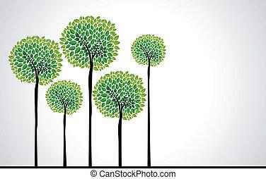 Trendy-Konzept-Bäumevektor