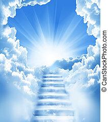 treppe, himmelsgewölbe