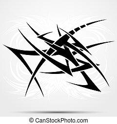 Tribal Tattoo Abstraktion.