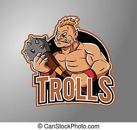 troll, maskottchen
