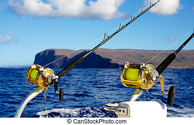 Trollstäbe für Tiefseefischerei.
