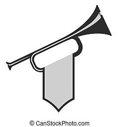 Trompete mit Flagge