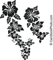 Tropische Blumenkleidung